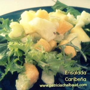 Ensalada caribeña de mango, pepino y celery