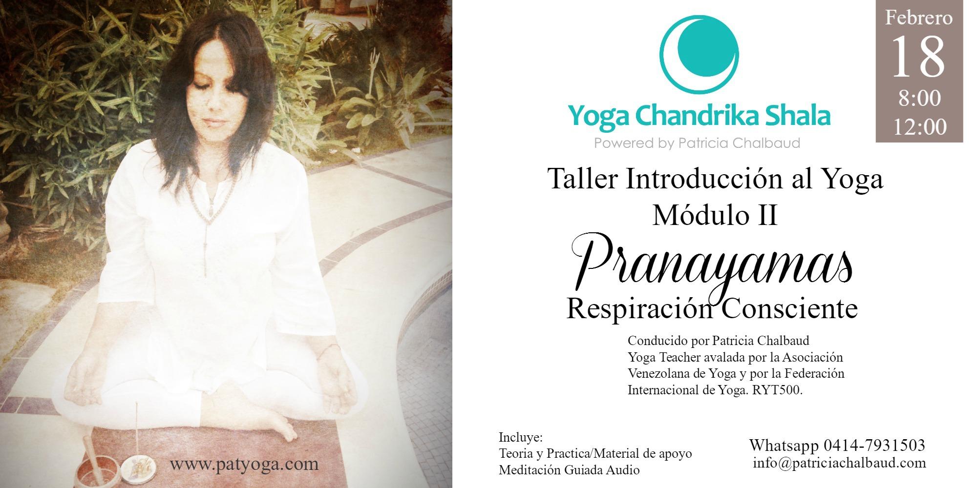 Taller Introducción al Yoga: Módulo II Pranayamas