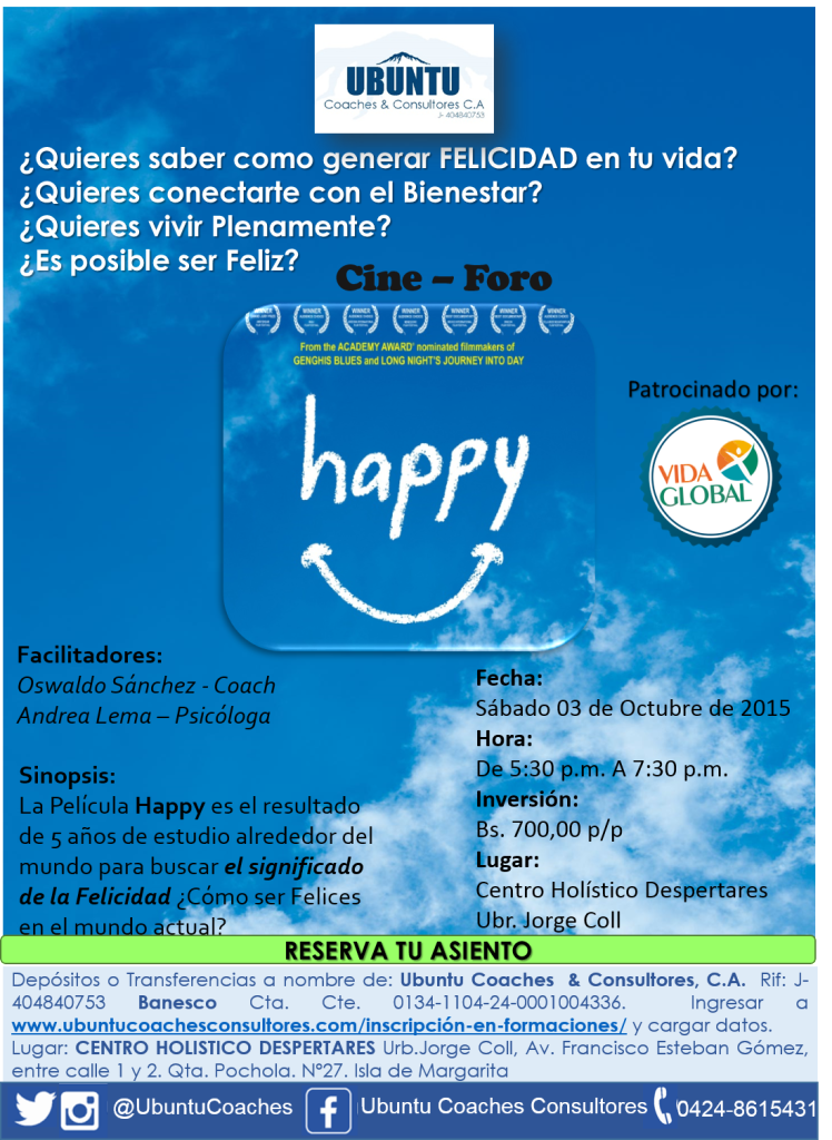 Cine Foro HAPPPY afiche