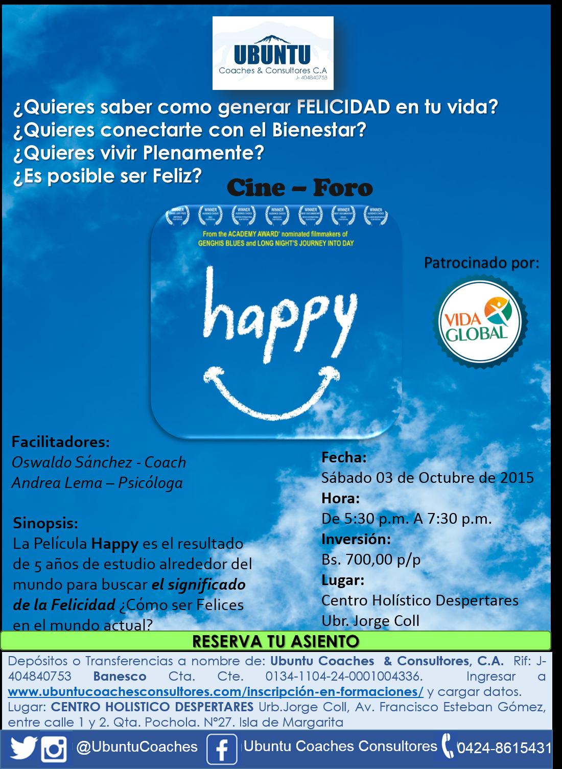 """Cine Foro """"Happy"""""""