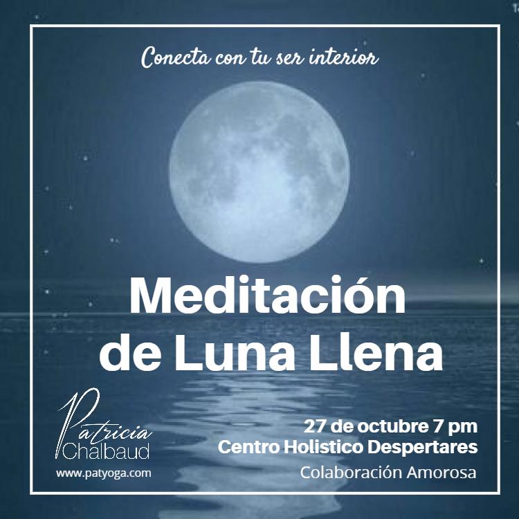 Meditación de Luna Llena 27 de Octubre