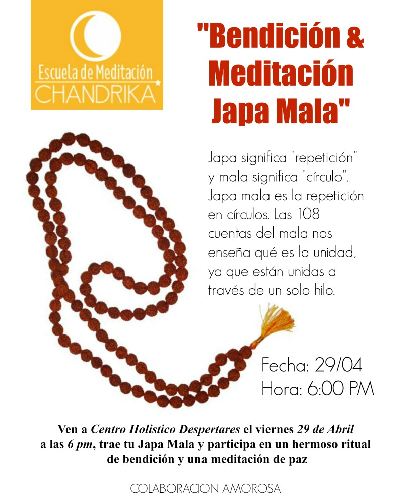 Bendición y Meditación Japa Mala