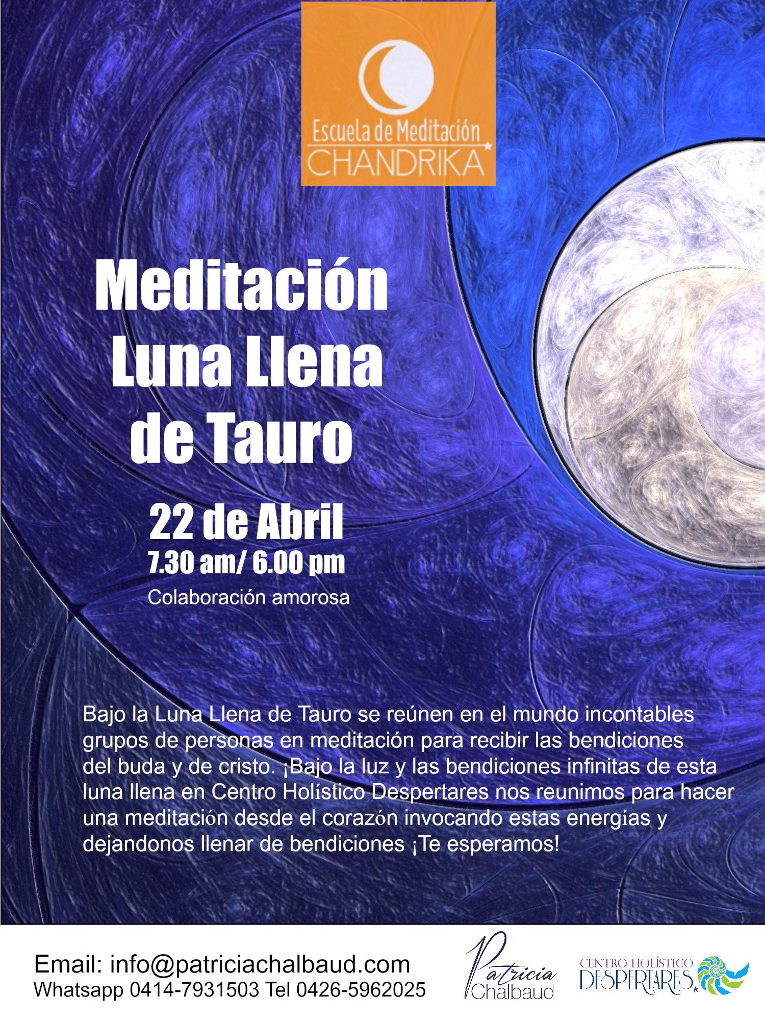 Meditación Luna Llena de Tauro